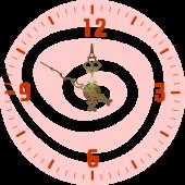 Rotund [sticker ceas]