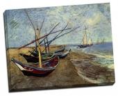 Bărci de pescuit, pe plajă
