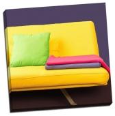 Canapea galbenă