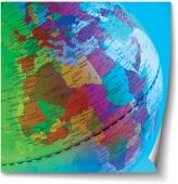 Glob pământesc, detaliu