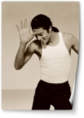 Michael Jackson, sepia.