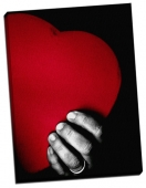 Pernă-inimă pufoasă