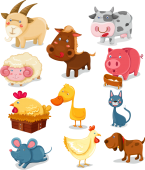 Set stickere - animale domestice 2